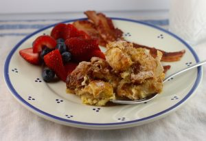 Breakfast Strata with Apple Turnovers