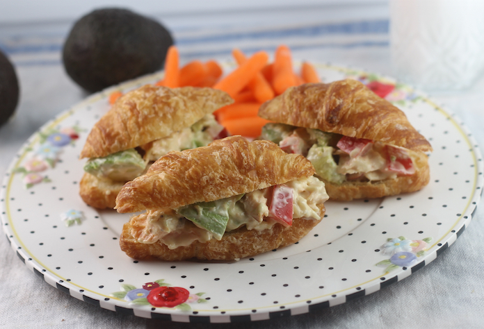 Salmon and Pepper Croissant Sandwiches