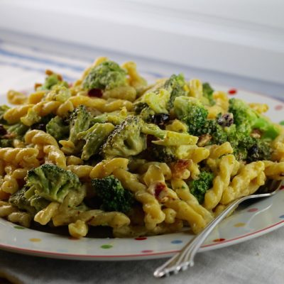Mustard Broccoli Bacon Pasta Salad