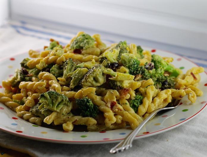 Mustard Broccoli Bacon Pasta Salad