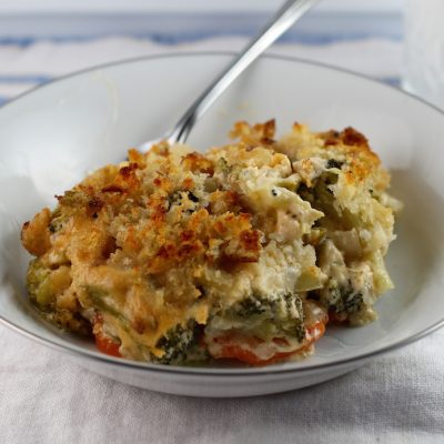 Cheesy Broccoli Carrot Casserole