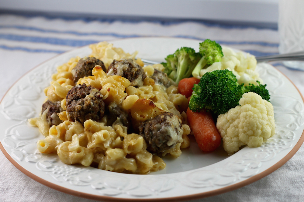 Meatball Mac and Cheese