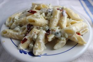 Mac and Cheese with Bacon and Bleu Cheese