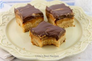 Peanut Butter Shortbread Caramel Bar Cookies
