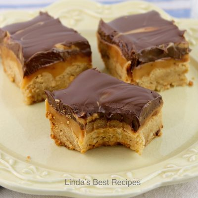Peanut Butter Shortbread Caramel Bar Cookies