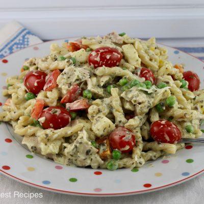 Pesto Chicken Pasta Salad