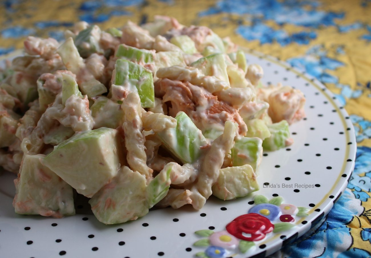 Salmon Apple Pasta Salad