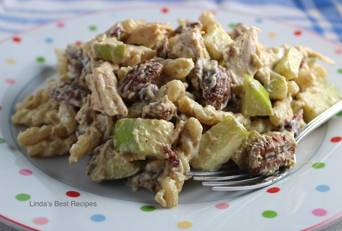 Apple Pecan Chicken Pasta Salad