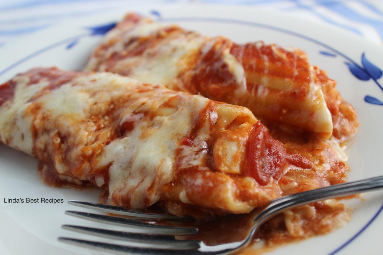 Creamy Chicken Manicotti