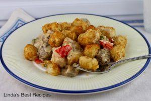 Tater Tot Potato and Meatball Casserole