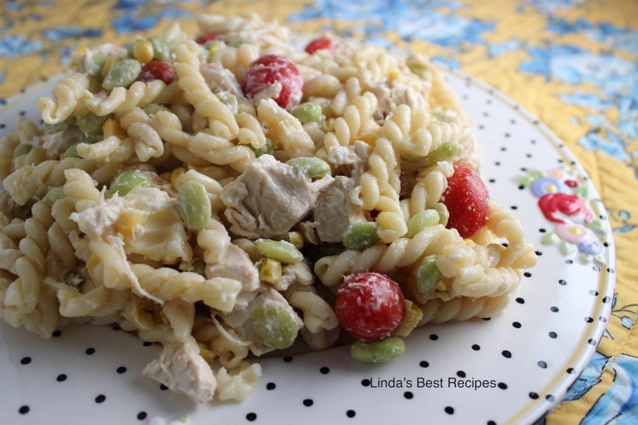 Chicken and Pasta Succotash Salad