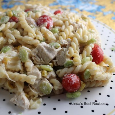 Chicken and Pasta Succotash Salad