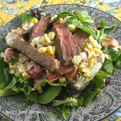Grilled Steak and Veggie Salad