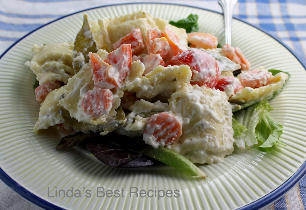 Blue Cheese Ravioli Salad