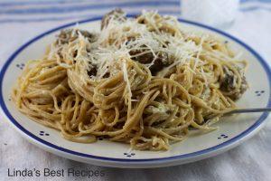 Spaghetti Carbonara with Meatballs