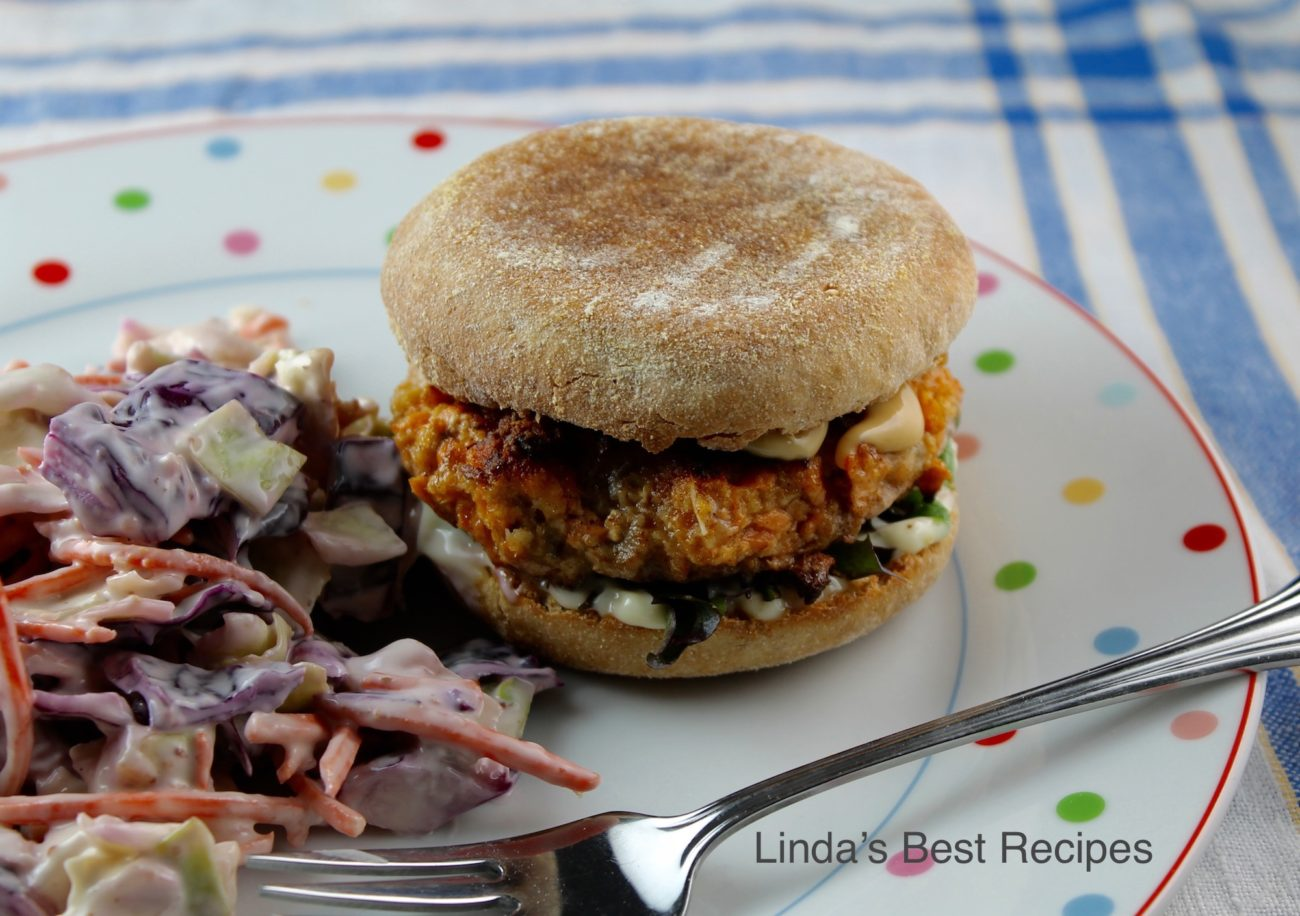 The Best Salmon Burger