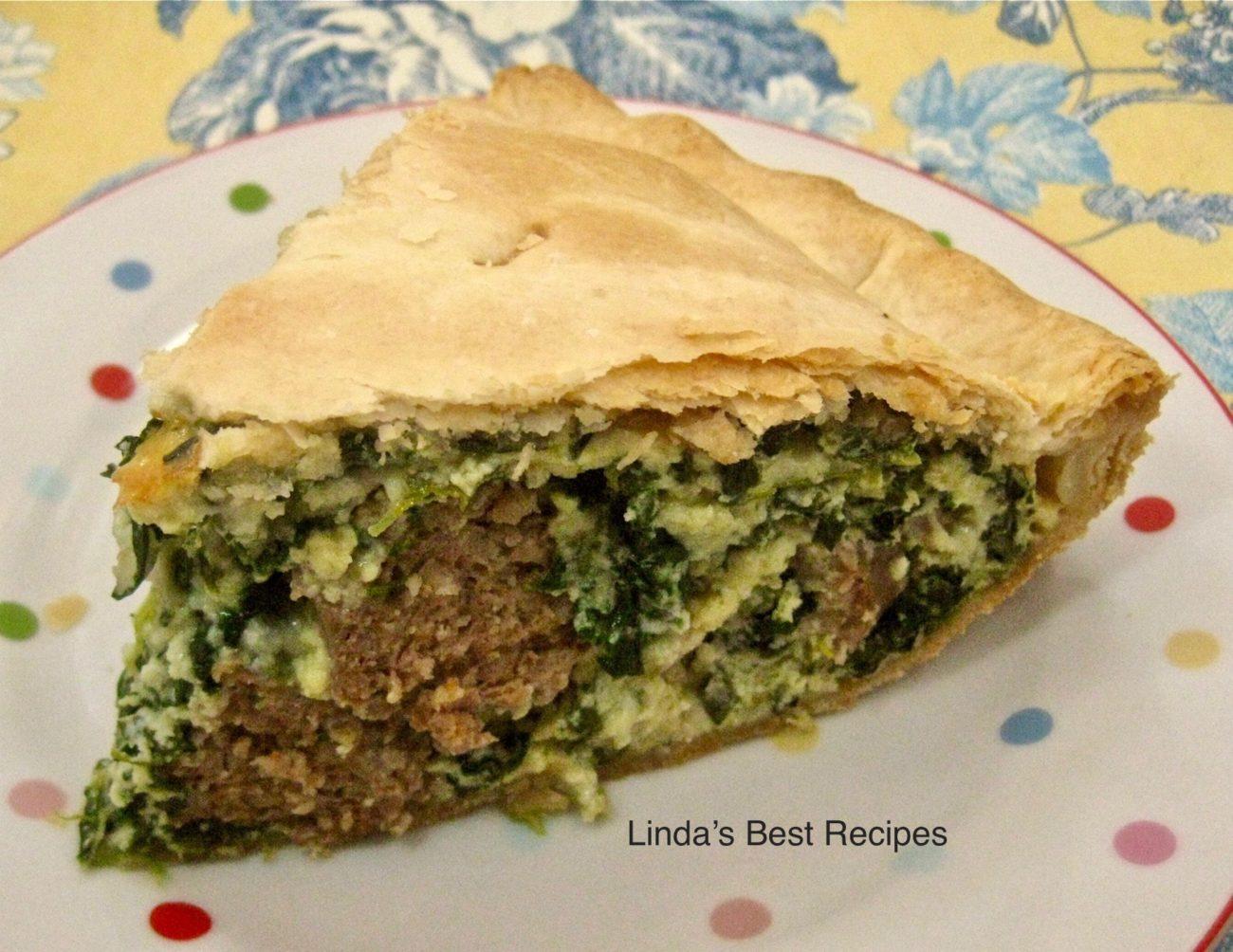Italian Meatball Spinach Pie