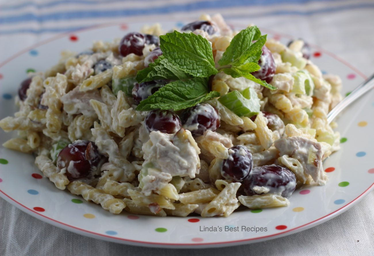 Lemon Mint Chicken Grape Salad