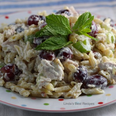 Lemon Mint Chicken and Grape Salad