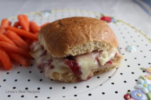 Baked Raspberry Chicken Sandwich