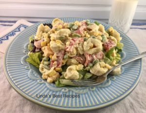Tortellini Corn and Lima Bean Salad