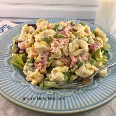 Tortellini Succotash Salad