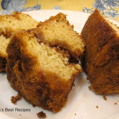 Ciinnamon Sour Cream Coffee Cake