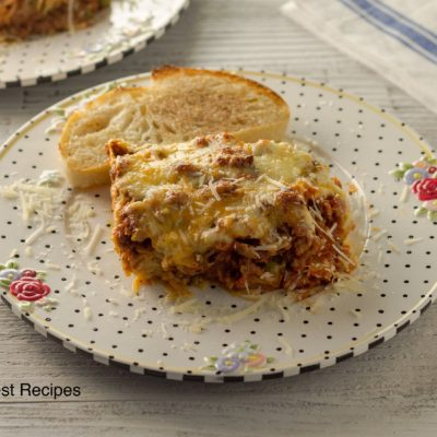 Baked Spaghetti and Ground Beef