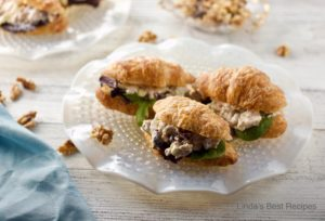 Cranberry Walnut Chicken Salad Sandwiches