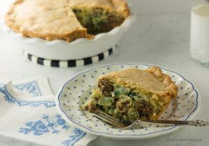 Italian Spinach and Meatball Pie 2