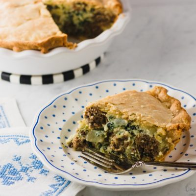 Italian Spinach and Meatball Pie 4