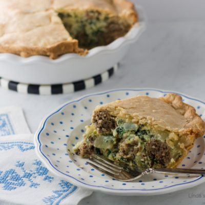 Italian Spinach and Meatball Pie