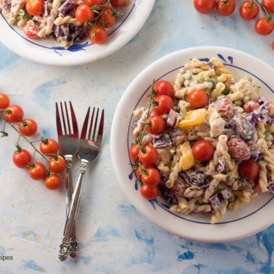 Chicken Pasta Cabbage Salad