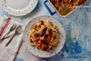 Meatball Spaghetti Casserole