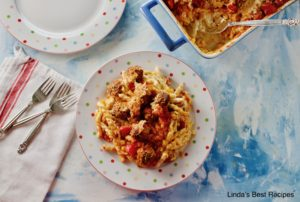 Creamy Meatball and Pasta Casserole