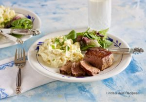 Filet Mignon Steak and Potato Salad