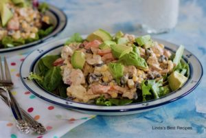 Salmon and Black Bean Salad with Vegetables