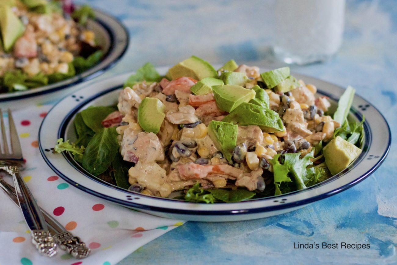 Salmon and Black Bean Salad