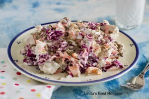 Coleslaw with Chicken and Sunflower Seeds