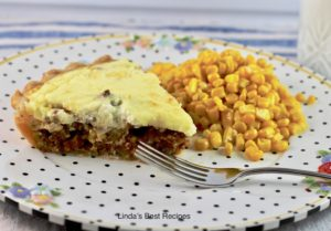 Beef Pie with Cottage Cheese Topping