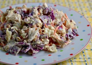 Sunflower Seed Coleslaw with Chicken
