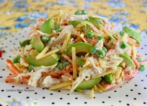 Chicken Salad with Potato Sticks