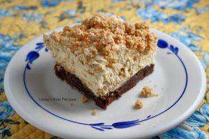 Peanut Brownie Parfait Bars