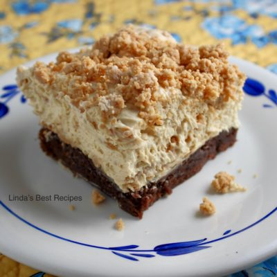 Peanut Brownie Parfait Bars