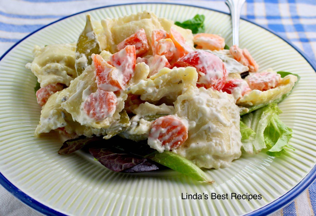 Blue Cheese Ravioli Salad