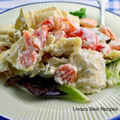 Ravioli Vegetable Salad
