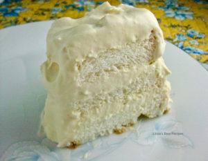 Lemon Layered Angelfood Cake
