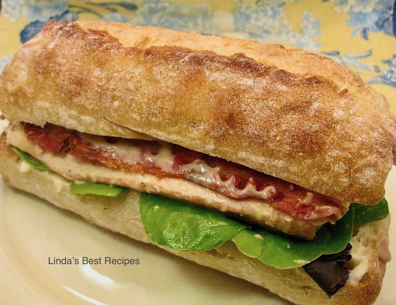 Salmon Bacon Sandwich