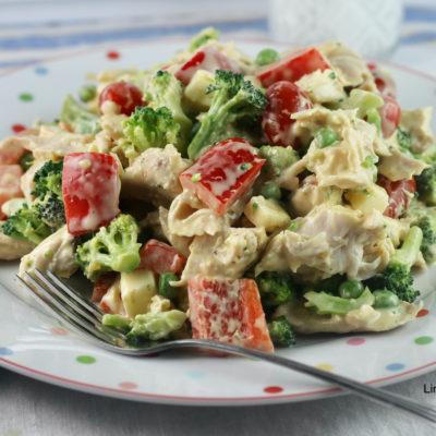 Chicken Broccoli Red Pepper Salad
