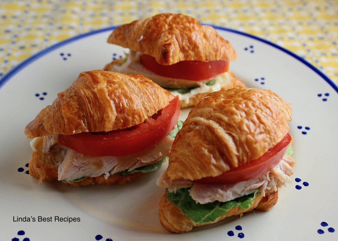 Mini Tomato Chicken Croissant Sandwiches